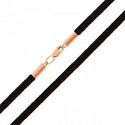 Шелковый шнурок с золотой застежкой 000125987, 5мм