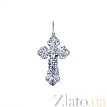 Серебряный крестик Эльза AQA--74338