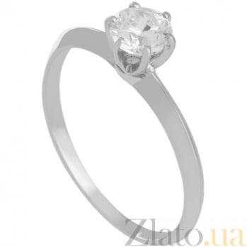 Золотое кольцо в белом цвете с цирконием Purity 000030809