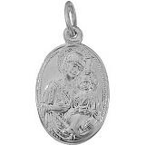 Серебряная ладанка Матерь Божья с Сыном