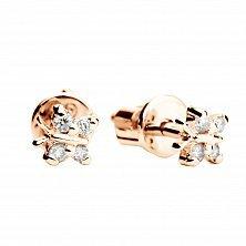 Золотые серьги с бриллиантами Мотыльки