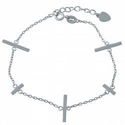 Серебряный браслет в стиле минимализм 000118618