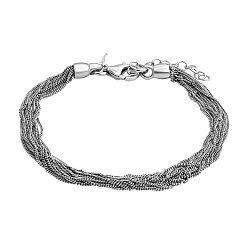 Серебряный многослойный браслет 000124500