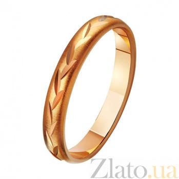Золотое обручальное кольцо Нежность души TRF--411123