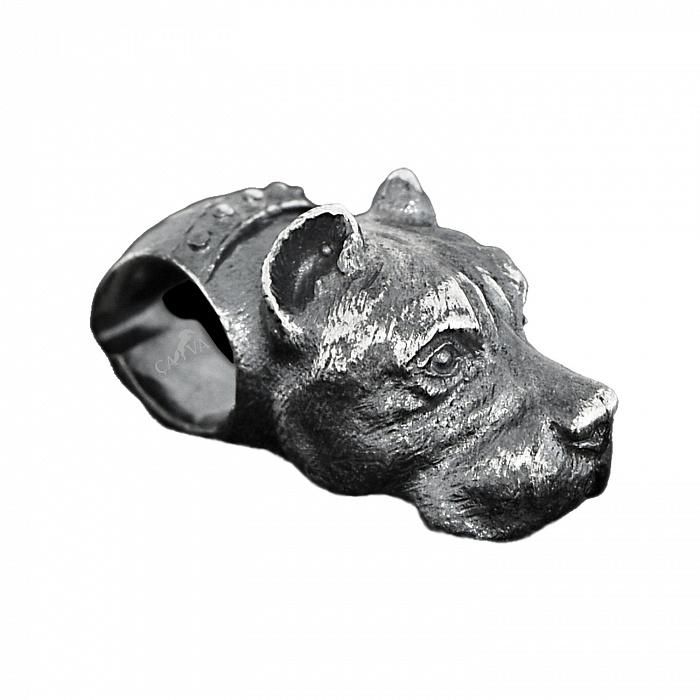 Бусина из чернёного серебра Стафф 000035793
