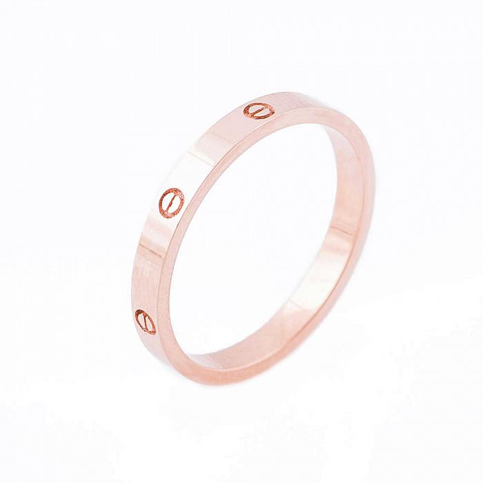 Золотое кольцо Тонкие чувства в красном цвете в стиле Картье  000082359