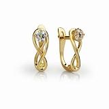 Золотые серьги с бриллиантами Эриния