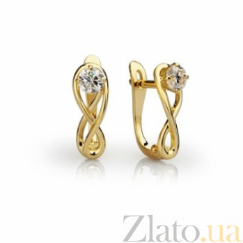 Золотые серьги с бриллиантами Эриния 000030528