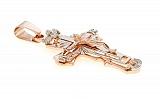 Золотой крест в комбинированном цвете Небесные ангелы