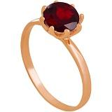 Золотое кольцо Фиеста с гранатом