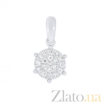 Золотой подвес в белом цвете с бриллиантами Орион 000030746