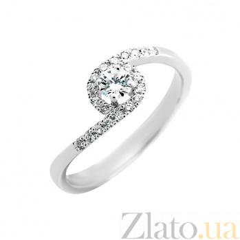 Золотое кольцо Венский вальс в белом цвете с бриллиантами VLA--14679
