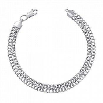 Браслет серебряный с родированием 000122489