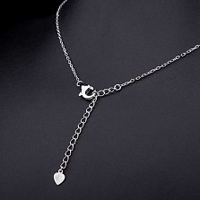 Колье из серебра Имбирный пряник с цирконием