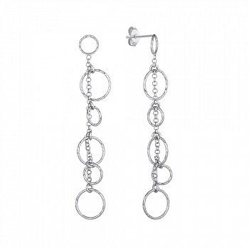 Серебряные серьги-подвески 000147415