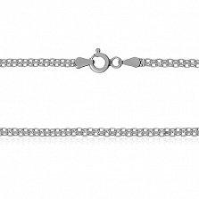 Серебряная цепочка Онтарио с родированием, 55 см