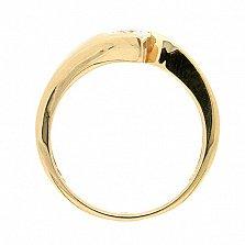 Золотое кольцо в красном цвете с бриллиантом Джахан
