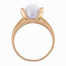 Кольцо из красного золота с жемчугом Логос