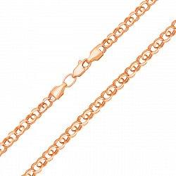 Цепочка из красного золота в плетении бисмарк 000128009