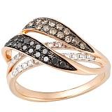 Кольцо в красном золоте Доротея с бриллиантами
