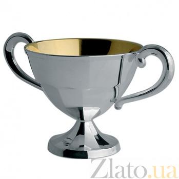 Серебряная сахарница Korpus с внутренней позолотой, 130мл ZMX--2705_0370