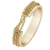 Кольцо Связанные одной целью в желтом золоте