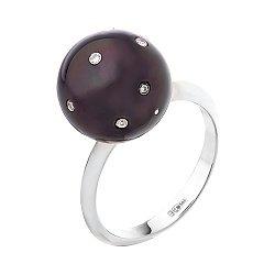 Золотое кольцо с жемчугом и бриллиантами 000052115