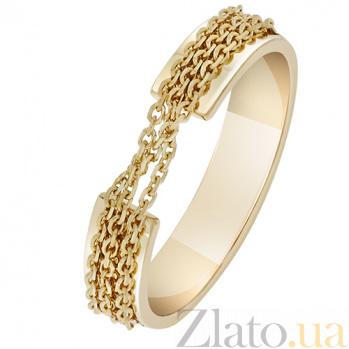 Кольцо Связанные одной целью в желтом золоте  000032660