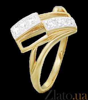 Кольцо из серебра с фианитами Бренда 000025614