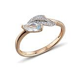 Кольцо из красного золота Мелани с бриллиантами и топазом