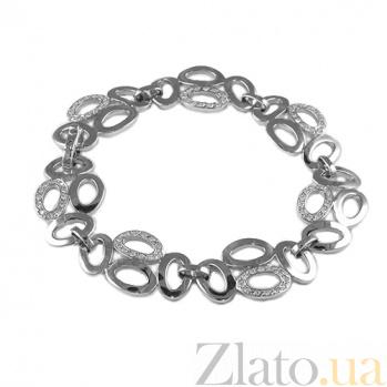 Серебряный браслет с цирконием Бесконечность ZMX--BCCz-6255-Ag_K