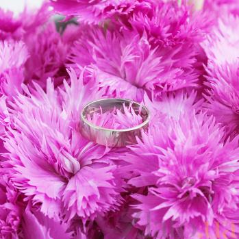 Обручальное кольцо из белого золота Американская модель 10105бел