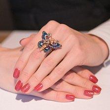 Кольцо из красного золота Психея с фианитами