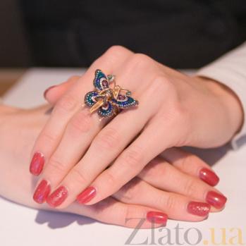 Кольцо из красного золота Психея с фианитами VLT--ТТ1045-5