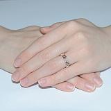 Серебряное кольцо с эмалью Любава