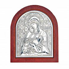 Владимирская икона Божьей Матери серебряная