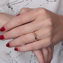 Золотое кольцо Малиновое счастье с рубином и бриллиантами