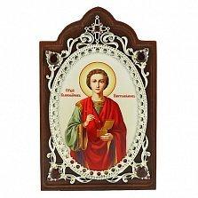 Серебряная икона Святого Великомученика Пантелеймона