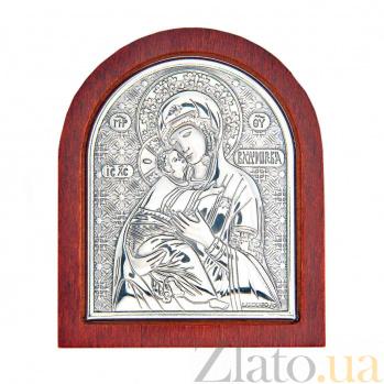 Владимирская икона Божьей Матери серебряная AQA--09112111