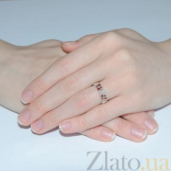 Серебряное кольцо с эмалью Любава Любава к