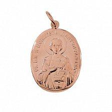 Ладанка в красном золоте Великомученик Пантелеймон