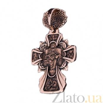 Золотой крест с чернением Сила духа ONX--пю01615