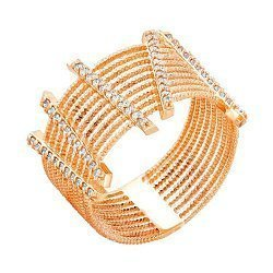 Золотое кольцо с фианитами 000036374