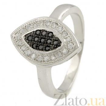 Серебряное кольцо День и ночь с фианитами 000078162