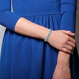 Серебряный ажурный браслет с фианитами Асселайн