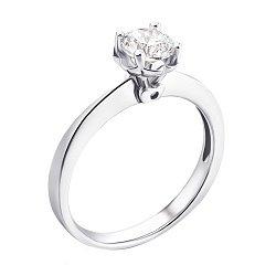 Серебряное кольцо с цирконием 000118405