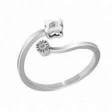 Кольцо из белого золота Мелодия лета с бриллиантами
