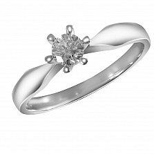 Помолвочное кольцо Стелла в белом золоте с бриллиантом