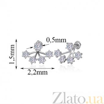 Серебряные серьги с фианитами Joy SLX--С2Ф/837