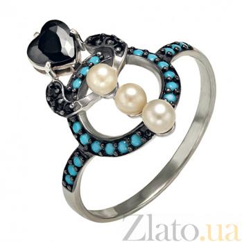 Серебряное кольцо Ночное рандеву Марилена TNG--380190С